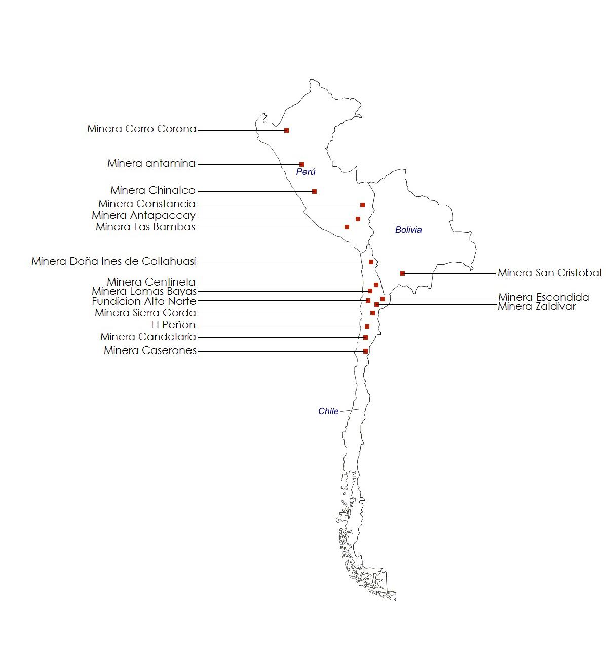 Mapa Minero JCM